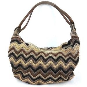 Nine West Purse Crocheted Hobo Shoulder Bag